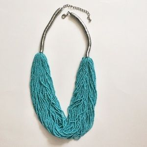 Anthropologie Turquoise Multistrand Necklace